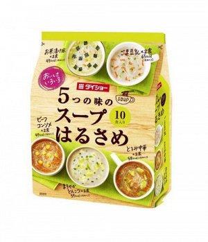 Суп Daisho Харусаме 5 вкусов 10 порций (зелёная пачка), 159,4г, м/у