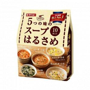 Суп Daisho Харусаме 5 вкусов 10 порций (коричневая пачка), 164,6г, м/у