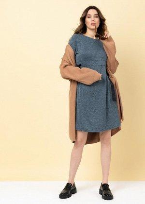 """Платье """"Нэнси"""" для беременных; синий меланж"""