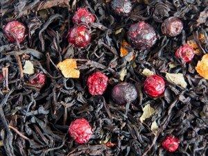 Витаминный Смесь индийского и цейлонского чая с ягодами и листьями смородины, плодами боярышника, корочками шиповника, цедрой апельсина с ароматом смородины- прекрасный микс с незабываемым ароматом и