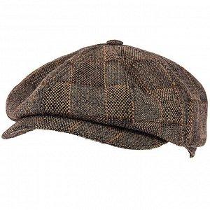 Кепка Сезон зимние. Модель кепка 8-клинка. Цвет коричневый. Состав шерсть-72%, полиамид-28%. Бренд Svyatnyh