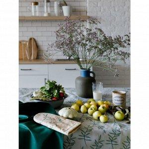 Скатерть Папоротник цвет зеленый (150х250 см)