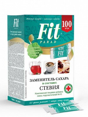 """Заменитель сахара """"ФитПарад №10"""" стики -100 шт."""