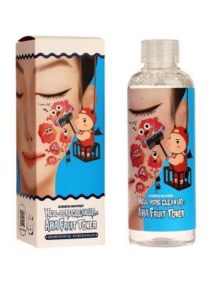 Тоник-пилинг с фруктовыми кислотами Hell-Pore Clean Up Aha Fruit Toner
