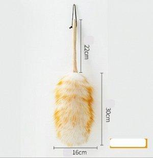 Щетка для удаления пыли, цвет белый/оранжевый
