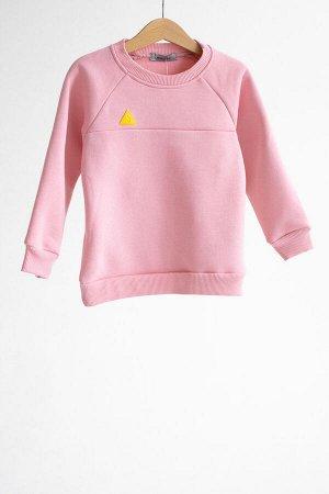 Свитшот Colour block pink