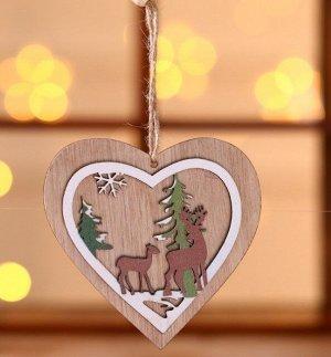 """Новогоднее подвесное украшение """"Сердце"""""""
