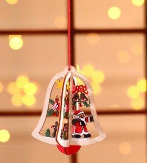 """Новогоднее подвесное украшение """"Колокольчик"""""""