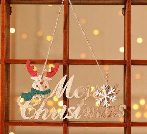 """Новогоднее подвесное украшение """"Олень"""", надпись """"Merry Christmas"""""""