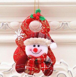 """Новогоднее подвесное украшение """"Снеговик"""""""