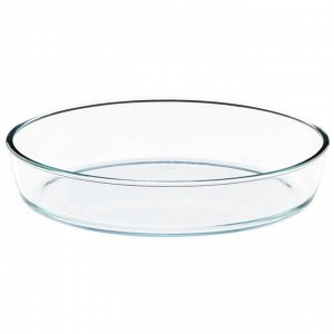Форма стеклянная  овальная 26x18x6см
