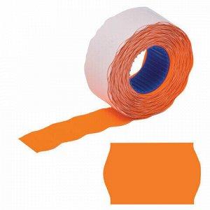 Этикет-лента 26х12 мм, волна, оранжевая, комплект 5 рулонов по 800 шт., BRAUBERG, 123578