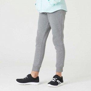 Спортивные брюки 100 зауженные для девочек серые