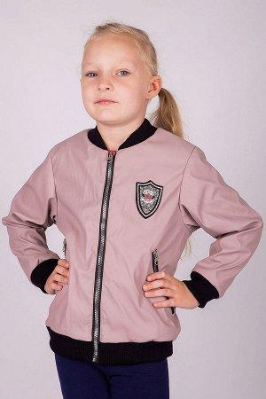 Куртка Ветровка-бомбер для девочки изготовлена из экокожи. Украшает куртку контрастные замки и нашивка на левой полочке. В прохладную,дождливую и ветренную погоду будет комфортно во время прогулок. Тк