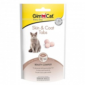 """GIMCAT Витамины для кошек для кожи и шерсти Скин и коат табс"""" 40 г"""