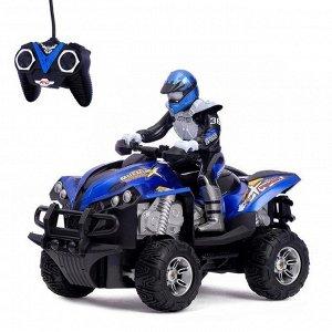 Мотоцикл радиоуправляемый «Квадроцикл», световые эффекты, 1:12, цвета МИКС