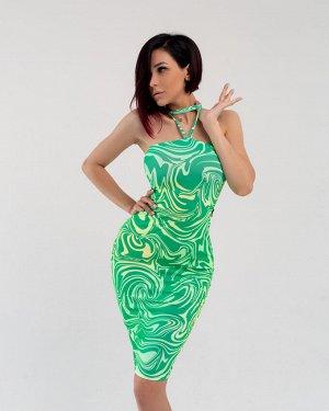 Платье Bona Fide: Bandeau Dress Summer Wave