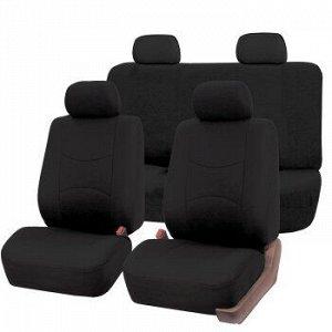 Чехлы для авто CARFORT Raccoon, полный комплект для седана, ткань, черный (1/10)