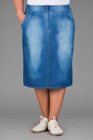 Юбка джинсовая .юб-дж--308макс