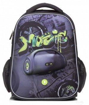 Рюкзак Hatber ERGONOMIC light Boombox 38х29х12,5см EVA материал 3D эффект светоотражающий 1 отделение 2 кармана и 1 потайной на спинке5