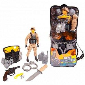 Игровой набор JUNFA военный в рюкзачке, 13 предметов277