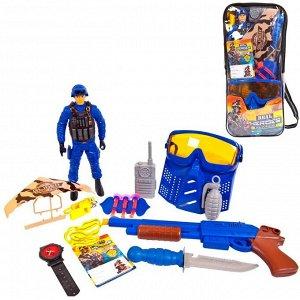Игровой набор JUNFA военный в рюкзачке, 17 предметов660