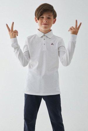 Сорочка-поло верхняя детская для мальчиков Blukit белый