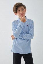 Сорочка-поло верхняя детская для мальчиков Blukit голубой