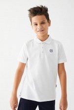 Сорочка-поло верхняя детская для мальчиков Nanuk белый