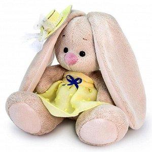 Мягкая игрушка «Зайка Ми», в жёлтом сарафане, 15 см