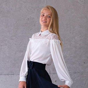 Блузка Соль&Перец длинный рукав кремовый