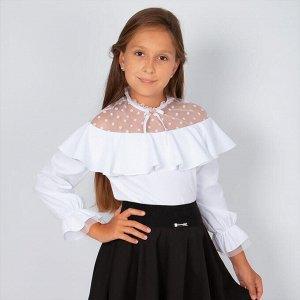 Блузка Соль&Перец короткий рукав 34 белый
