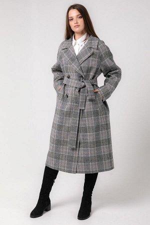 """Пальто в """"Английском стиле"""" Серо-голубой"""
