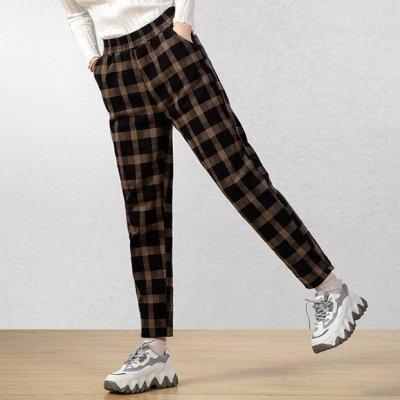 Самая уютная закупка! Толстовки, шапки, брюки, носки, худи — Теплые штаны в клетку
