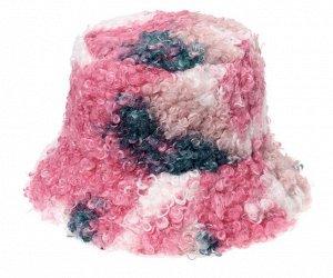 Теплая панама унисекс, цвет розовый