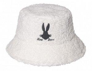 Теплая панама унисекс, с принтом и надписью, цвет белый