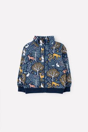 Куртка для девочки Crockid КР 301476 индиго, лес к305