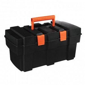 """ЕРМАК Ящик для инструмента пластиковый с лотком 13"""", 34х18х16см"""