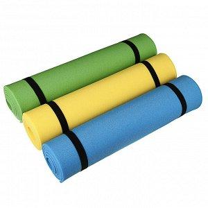 Коврик для йоги 180x60 (+/- 1%) x0,6см пенополиэтилен, 3 цвета