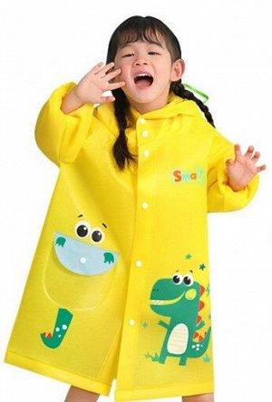Детский плащ дождевик, цвет желтый
