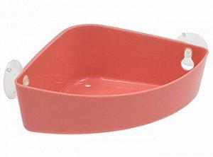 Полка Полка на присосках угловая [KRITA] КОРАЛЛ Угловая полка из полипропилена станет незаменимым помощником в ванной комнате или на кухне. Она позволяет экономить место и легко моется. Может крепитьс