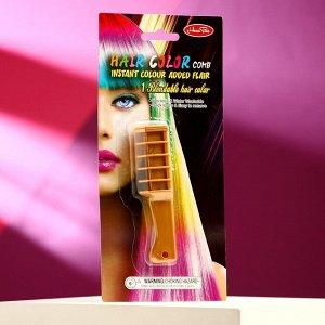 Расческа-Мелок для волос с насадкой, цвет золото 1 шт.