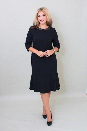Платье Волан черный