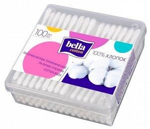 Палочки ватные Bella в пластиковой квадратной упаковке 100 шт