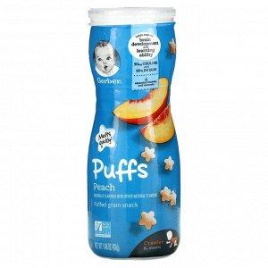 Gerber, Puffs, Puffed Grain Snack, 8+ Months, Peach, 1.48 oz (42 g)