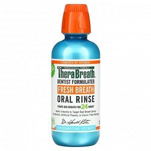 TheraBreath, освежающий ополаскиватель для полости рта, бодрящая мята, 473 мл (16 жидк. унций)