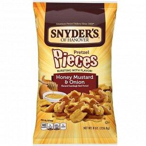 Snyder's, крендельки, медовая горчица и лук, 226,8 г (8 унций)