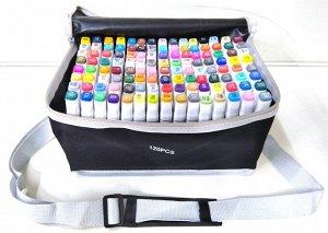Набор маркеров для скетчинга Touch 120шт в сумке с ремнем и подставкой для каждого маркера