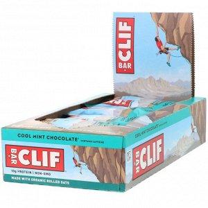 Clif Bar, Energy Bar, прохладный мятный шоколад, 12 батончиков, 68 г (2,40 унции) каждый