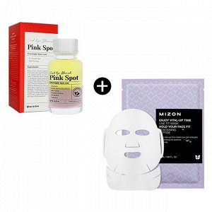 Точечное средство от прыщей Good Bye Blemish Pink Spot + Enjoy Vital Up Time Line Fit Mask